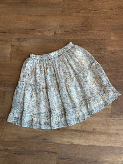 Paisley Tiered Skirt