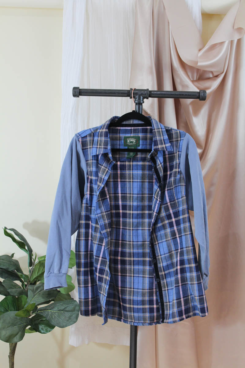 Sweatshirt Flannel Reimagined Button Up