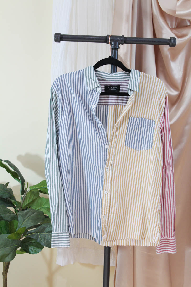 Multi Striped Button-Up