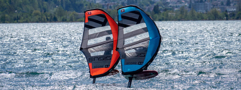 Ensis Score Foil Wing in red and blue