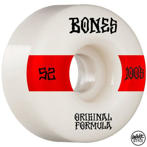 Bones 100S Skateboard Wheels 100A 52