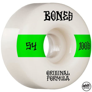 Bones 100S Skateboard Wheels 100A 54Mm