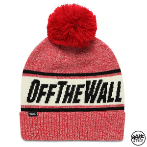 Vans Off The Wall Pom Beanie Chili Pepper Black