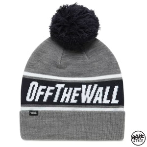 Vans Off The Wall Pom Beanie Heather Grey/dress Blues
