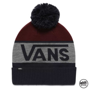 Vans Stripe Pom Beanie Dress Blues-Port Royale