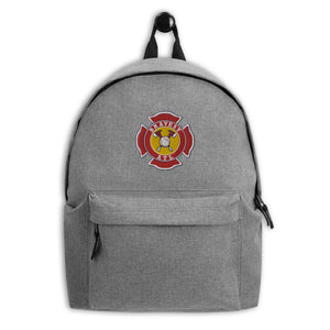 Bravest ATL Maltese Cross Embroidered Backpack