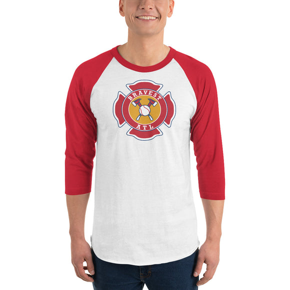 Maltese Cross 3/4 sleeve raglan shirt