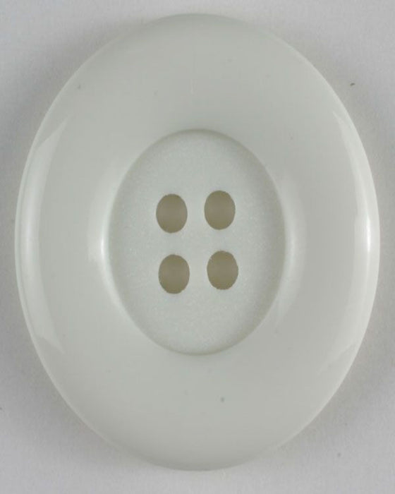 Button - Large  28mm- 4 Hole - White