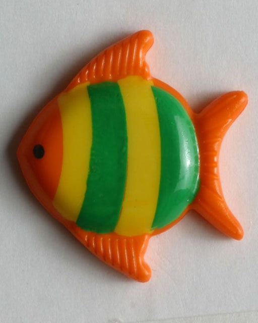 Button 251273 18mm orange fish