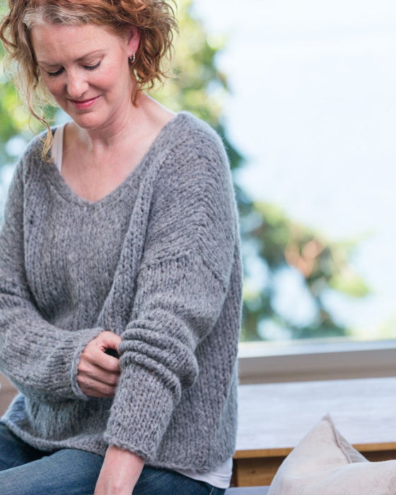 CMY Pattern - Slouchy Pullover