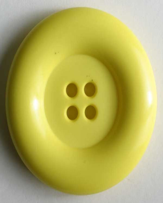Button - Large  28mm- 4 Hole - Yellow