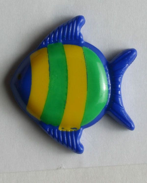 Button 251272 18mm blue fish