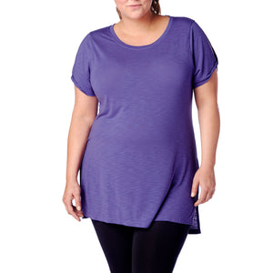 Athens Women's Plus Size  Twist Sleeve Tee/Top