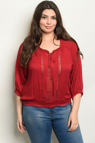 Women's Rayon Plus Size Top