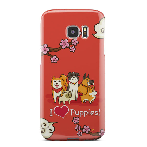"""I Love Puppies!"" Phone Case (iPhone & Samsung  22+ Models)"