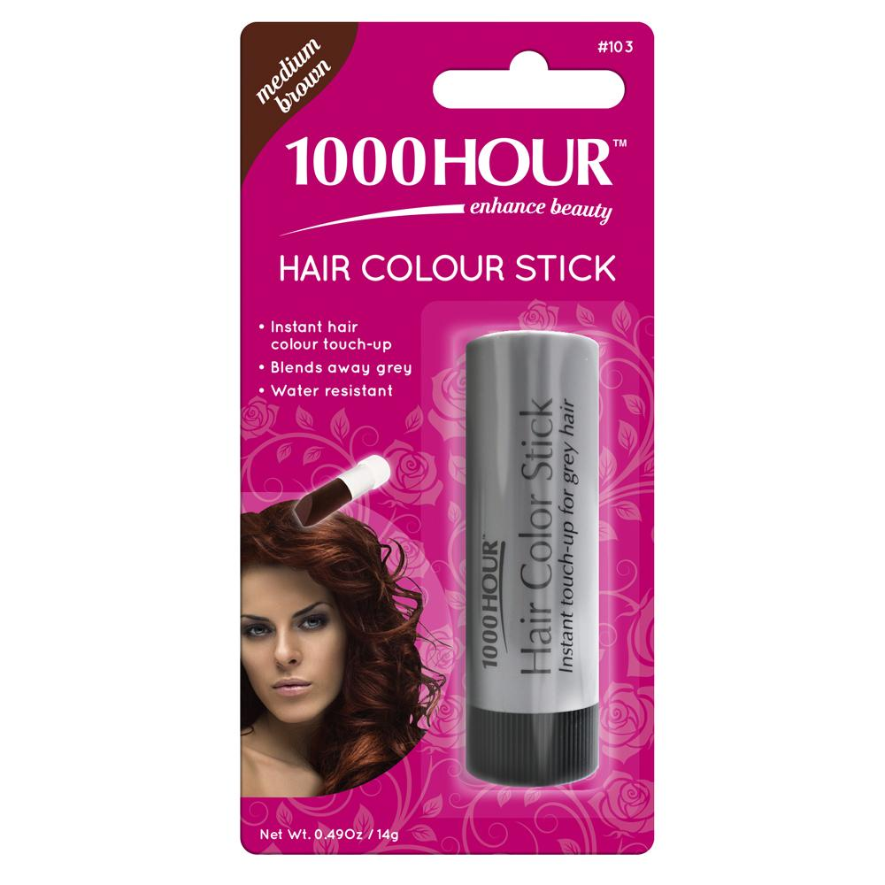 1000 Hour Hair Colour Stick - Medium Brown