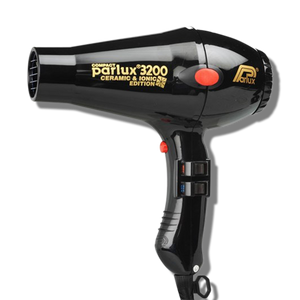 Parlux 3200 Ionic & Ceramic Compact Hair Dryer - Black