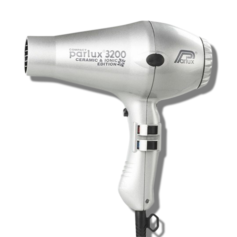 Parlux 3200 Ionic & Ceramic Compact Hair Dryer - Silver