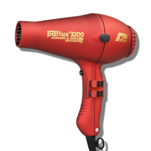 Parlux 3200 Ionic & Ceramic Compact Hair Dryer - Red