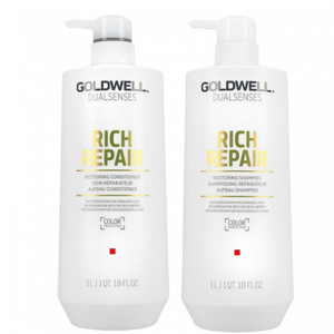 Goldwell Dual Senses Rich Repair Shampoo & Conditioner 1 Litre Duo
