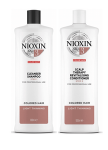Nioxin System 3 Cleanser Shampoo and Scalp Therapy Revitalising Conditioner 1L Duo