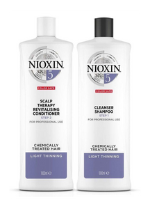 Nioxin System 5 Cleanser Shampoo and Scalp Therapy Revitalising Conditioner 1L Duo