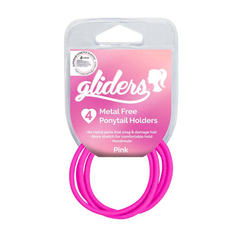Gliders Metal Free Ponytail Holders 4pc