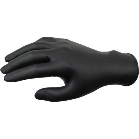 Contrast Nitrile Black Powder Free Gloves - 100pk