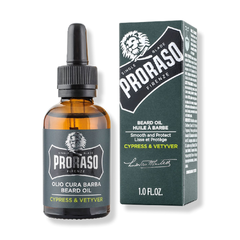 Proraso Beard Oil - Cypress & Vetyver 30ml