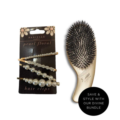 Divine Style Brush & Pearl Pins Duo