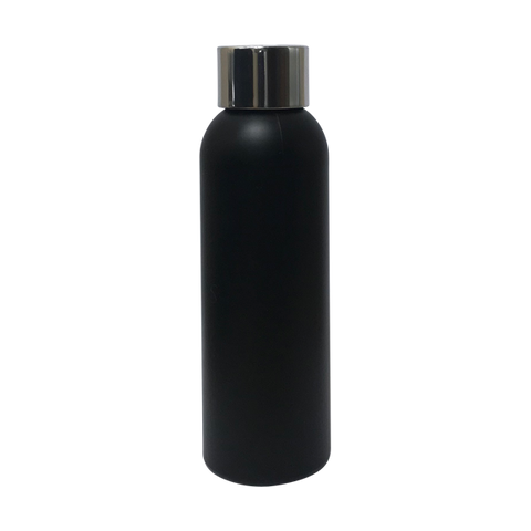 Plastic Silver Top Black Bottle 100ml