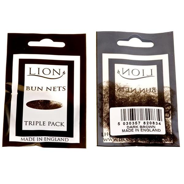 Lion Bun Net 3pk Dark Brown