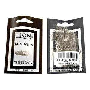 Lion Bun Net 3pk Grey