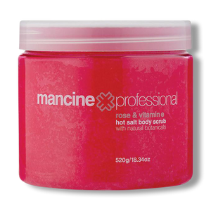 Mancine Hot Salt Scrub Rose & Vitamin E  - 520g