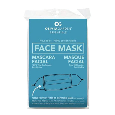 Olivia Garden Reusable Fabric Face Mask 4 Pack - Black