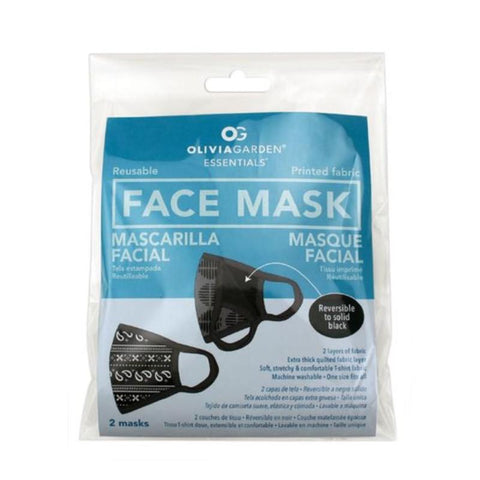 Olivia Garden Reusable Printed Face Mask 2 Pack