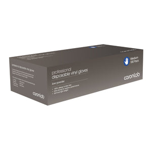 Caronlab Vinyl Gloves Low Powder 100pk Medium