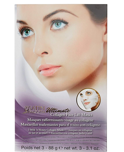 Satin Smooth Ultimate Collagen Face Lift Masks - 3pack