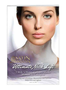 Satin Smooth Ultimate Collagen Neck Lift Masks - 3pack
