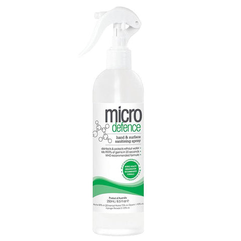 Caronlab Micro Defence Hand & Surface Sanitising Spray 250ml