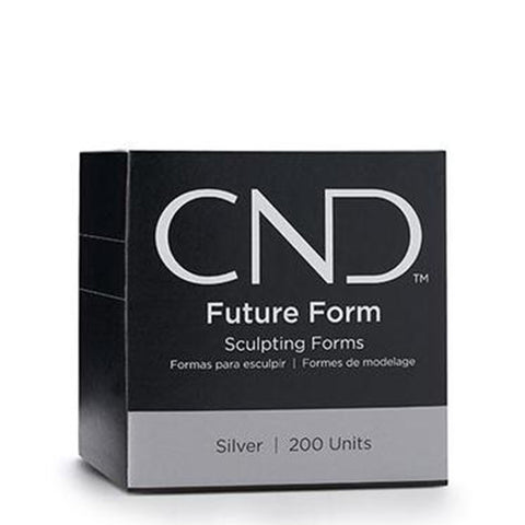 CND Future Form - Silver Sculpting Forms - 200 pcs
