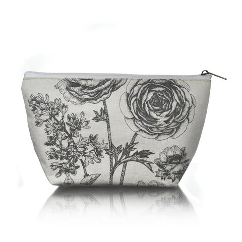 Cosmetics Bag - Rose Print