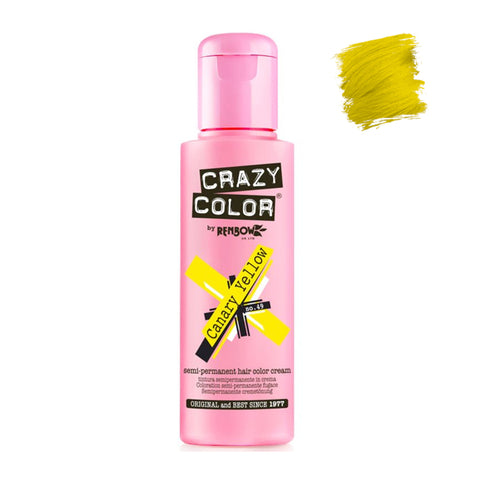 Renbow Crazy Color Semi Permanent - Canary Yellow #49 100ml