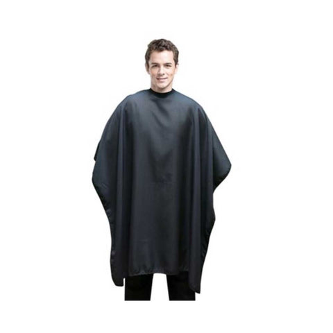 DH Pinstripe Haircutting Cape #2006 - Black/Grey
