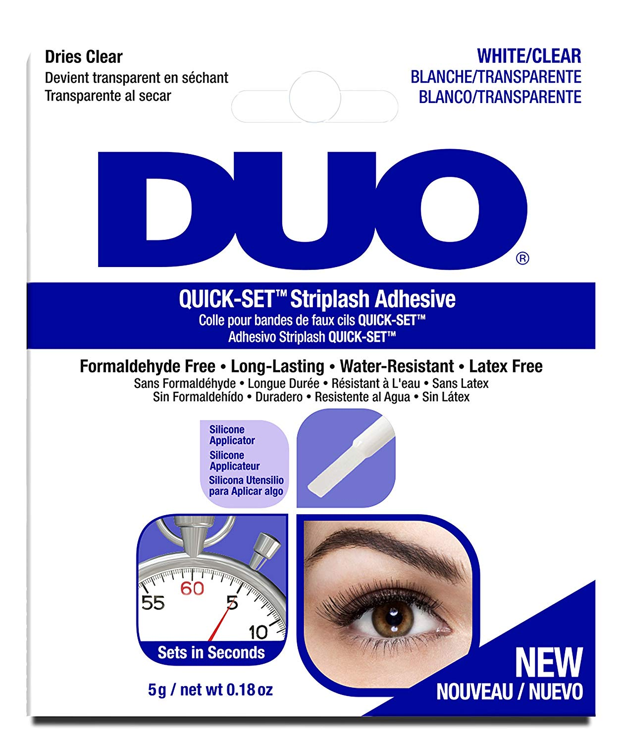 Duo Quick-Set Striplash Adhesive 5g-CLEAR
