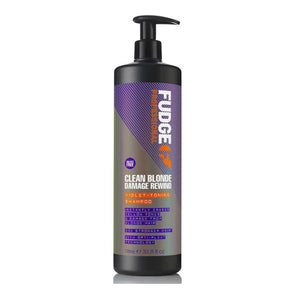 Fudge Professional Clean Blonde Damage Rewind Violet Toning Shampoo 1 Litre
