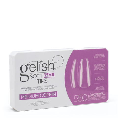 Soft Gel Tips Medium Coffin