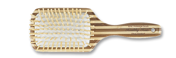 Olivia Garden Healthy Hair Eco-Friendly Bamboo Brush Ionic Massage - Paddle Collection