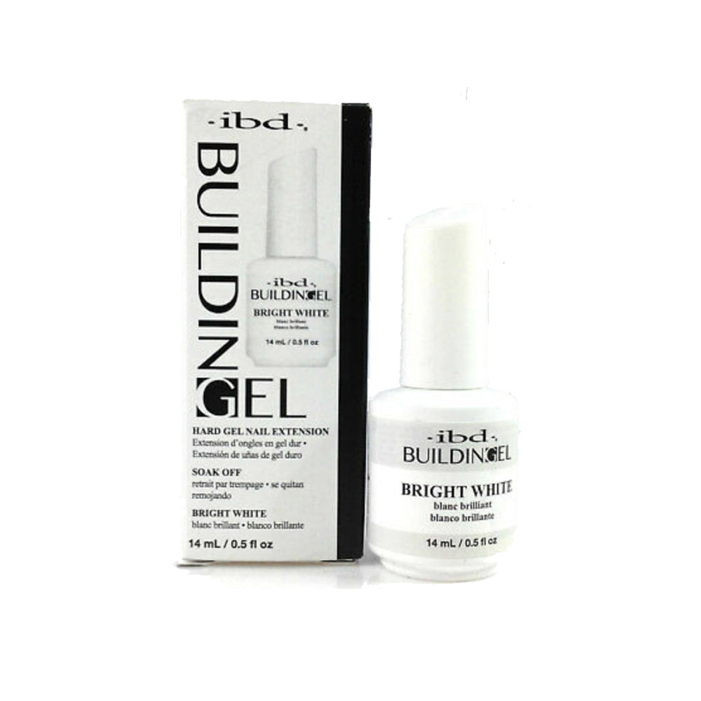IBD Building Gel Hard Nail Extension - Bright White 14g