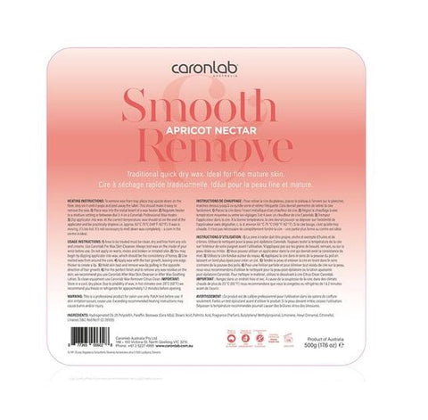 Caronlab Smooth & Remove Hard Wax Melts Apricot Nectar 500g